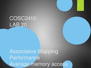 Lab 20 - Memory (Associative Mapping)
