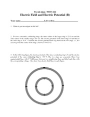 Lab II Electric Field and Electric Potential B