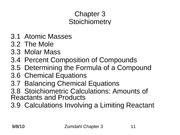 Chapter 3 stoich lecture notes