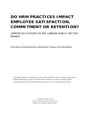 DO HRM PRACTICES IMPACT
