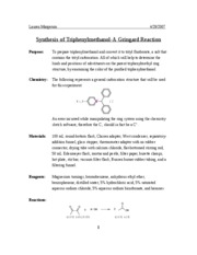 Synthesis of Triphenylmethanol-A Gringard Reaction