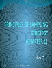 CHAPTER 1_ PRINCIPLES OF SAMPLING STRATEGY