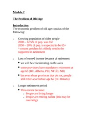Intro to Problems of Old Age