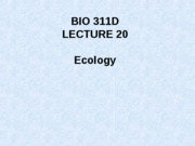 Lecture 20 Ecology posted[1]