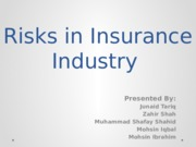 Financial Risks and their Mitigation in Insurance Industry