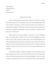 ENG101 Research Essay - Deforestation and Drought