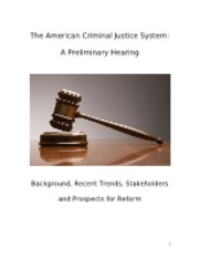 Criminal Justice System Policy Brief