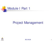 Module I_Project Mgmt I
