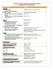 Clinical Calculation Rounding Rules  Equivalents Used by LSN Spring 2011.docx