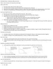ECON 1001 : Introductory Microeconomics - University of Sydney -