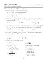 E17 - Trigonometric Identities