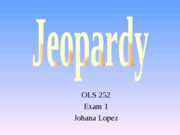 Exam 1 Jeopardy