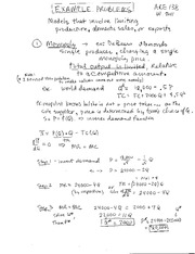 Exam 2 Example Problems