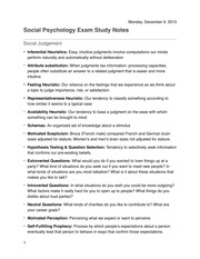 Social Psychology Study Notes