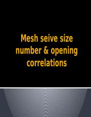 Mesh size number & opening correlations.pptx