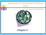 Lecture 5. Investing Abroad(1)