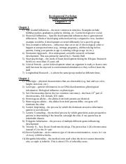 Developmental Psychology Exam I Study Guide (1).docx