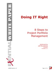 Doing IT Right - 8 Steps To Project Portfolio Management