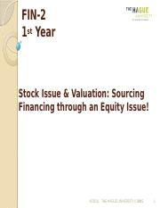 FIN-2Lecture 10-Share Issuance and Valuation