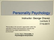 Lecture3.7.19.2011.PersonalityPsych.Summer2011