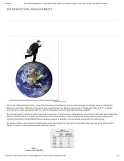 International Management - organization, levels, system, examples, manager, model, type, company, wo