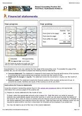 financial statements soln financial statements 1 of 11 http. Black Bedroom Furniture Sets. Home Design Ideas