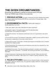 THE GIVEN CIRCUMSTANCES (2)