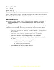 Zicam Allergy Research  Proposal.doc