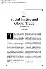 Social Justice and Global Trade