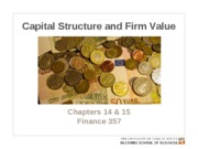 Chapters 14 & 15. Capital structure and firm value POSTED