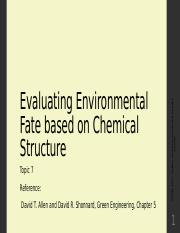 8-Evaluating Environemtal Fate based on Chemcial Structure.pptx