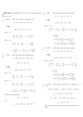 Homework 12 Solution Spring 2008 on Differential Equations with Linear Algebra 1