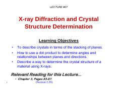 07_MTE 271_XRD for crystal structure determination.pdf