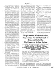Origin of US West Nile virus
