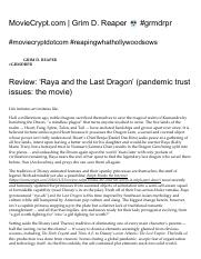 Review_ 'Raya and the Last Dragon' (pandemic trust issues_ the movie) – MovieCrypt.com _ Grim D. Rea
