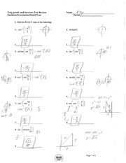 Precal 6.1-6.3 Test Review Solutions