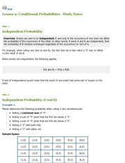 INTE 296 - Lesson 9 Conditional Probabilities