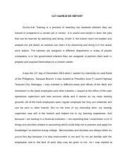 acknowledgement sample for ojt narrative report