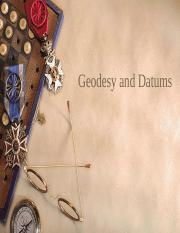 Geodesy and Datums