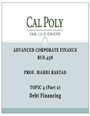 Topic4.2-Debt Financing