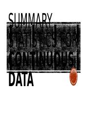 9 - Summary Statistics for Continous Data Part 2.pptx