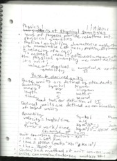 physics 1 notes #1