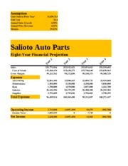 Lab 3-1 Salioto Auto Parts Eight-Year Financial Projection_ Jim_McErlean