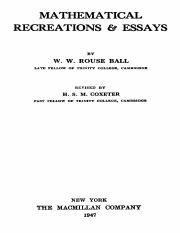 W._W._Rouse_Ball_and_H._S._M._Coxeter_Mathematical_Recreations_and_Essays_11th_Rev._Ed__1947