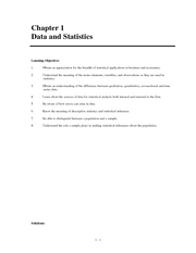 End Solutions Statistics chapter 1