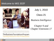 F10-Class-23-Business Intelligence