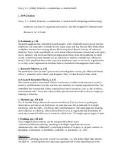 COM 207 Sample Coding Sheet - Dialectic... - completed