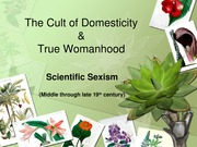 The Cult of Domesticity Lecture