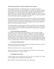 The Entrepreneurship Case Study Guideline.docx