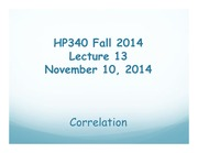 HP340 Lecture 13 - Correlation(1)
